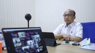 Sekjen Kemnaker Anwar Sanusi dalam webinar di Pusat Pendidikan dan Pelatihan Sumber Daya Manusia