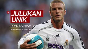 Berita video David Beckham ternyata pernah punya julukan yang unik saat masih menjadi pesepak bola. Bagaimana dengan para legenda sepak bola Eropa lainnya?