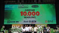 Menteri Koperasi dan UKM Teten Masduki meresmikan Gebyar 10.000 Warung yang diinisiasi komunitas SAHARA (Sahabat Ekonomi Rakyat) dan Induk Koperasi Wanita Indonesia (INKOWAPI), di Lapangan Banteng, Jakarta, Sabtu (14/12/2019). (Dok. Kementerian Koperasi dan UKM)