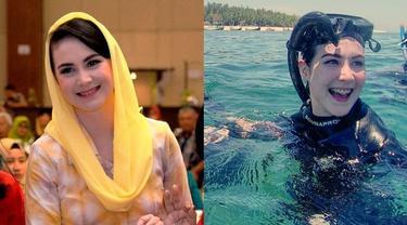 6 Potret Arumi Bachsin Menyelam Bareng Ibu PKK se-Madura, Seru Banget