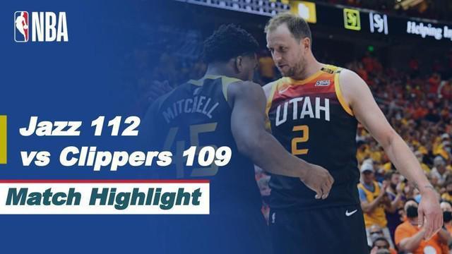 Berita video highlights laga seru semifinal wilayah barat NBA Playoffs 2021 antara Utah Jazz melawan LA Clippers yang berakhir dengan skor 112-109, Rabu (9/6/2021) pagi hari WIB.