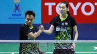 Ganda campuran IndonesuaHafiz Faizal/Gloria Emanuelle Widjaja pada babak pertama Thailand Masters 2020, Rabu (22/1/2020). (PBSI)
