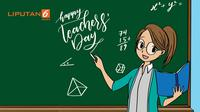 Hari Guru Internasional (Liputan6.com/Trie yas)