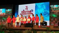 Peluncuran TV digital di Nunukan, Kalimantan Utara, Sabtu (31/8/2019). (Liputan6.com/ Agustinus Mario Damar)