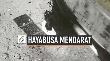 Satelit Jepang Hayabusa 2 sukses mendarat di asteroid Ryugu. Pendaratan dilakukan pada medan dan jalur manuver yang sulit.