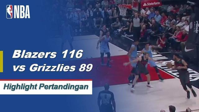 Portland Trail Blazers menggunakan babak kedua yang dominan untuk melewati Grizzlies yang berkunjung ke 116-89. Evan Turner selesai dengan triple-double kedua lurus untuk menjadi Blazer pertama yang melakukannya sejak Clyde Drexler pada tahun 1989-90...