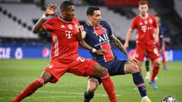 Bayern Munchen menang 1-0 atas PSG pada laga leg kedua perempat final Liga Champions di Parc des Princes, Rabu (14/4/2021) dini hari WIB. Sayangnya, Bayern tetap gagal ke semifinal karena kalah agresivitas gol tandang (agregat 3-3). (AFP/FRANCK FIFE)
