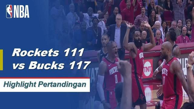 Berita video highlights NBA 2019-202 antara Houston Rockets melawan Milwaukee Bucks yang berakhir dengan skor 111-117, Kamis (24/10/2019).