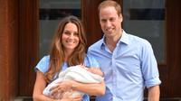 Kate Middleton ketika melahirkan Pangeran George pada 2013. (LEON NEAL / AFP)