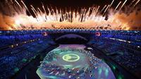 Lihat lebih dekat apa yang menerangi Stadio Maracana pada upacara pembukaan Olimpiade 2016 Rio de Janeiro di sini.