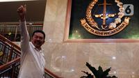 Jaksa Agung ST Burhanuddin usai menyampaikan keterangan di Kantor Kejaksaan Agung, Jakarta, Rabu (18/12/2019). Keterangan terkait perkembangan penyidikan dugaan tindak pidana korupsi di PT Asuransi Jiwasraya (Persero) yang menyebabkan kerugian Rp 13,7 triliun. (Liputan6.com/Johan Tallo)