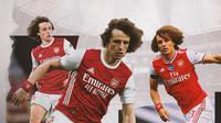 Pemain Arsenal: David Luiz. (Bola.com/Dody Iryawan)