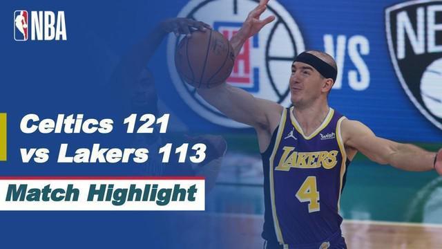 Berita video highlights NBA pertandingan Boston Celtics melawan LA Lakers, Jumat (16/4/2021).