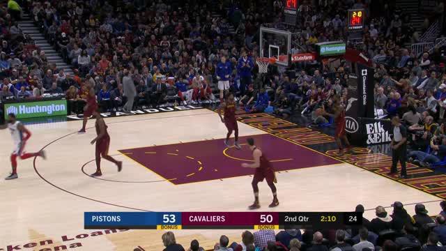 Berita video game recap NBA 2017-2018 antara Cleveland Cavaliers melawan Detroit Pistons dengan skor 121-104.