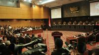 Rabu (6/8/14), MK menggelar sidang perdana gugatan Pemilihan Presiden (Pilpres) 2014 yang diajukan tim pasangan Prabowo-Hatta. (Liputan6.com/Johan Tallo)