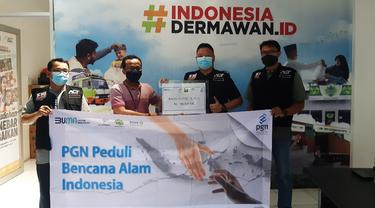 Gerakan Donasi PGN Peduli, PGN Salurkan Bantuan Bencana di Sulawesi Barat dan Kalimantan Barat