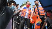 Wakil Menteri Desa, Pembangunan Daerah Tertinggal, dan Transmigrasi, Budi Arie Setiadi meresmikan Wisata Situ Lebak Wangi Kamis (7/10/2021). (Foto : Andri /Humas Kemendes PDTT)