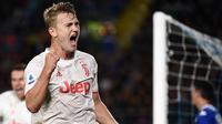 6. Matthijs de Ligt (Juventus) - Kedisiplinan dalam menjaga pertahanan membuat mantan kapten Ajax Amsterdam ini menjadi bek masa depan di Juventus. OVR 85 - 93. (AFP/Marco Bertorello)