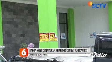 Rumah Sakit Umum Daerah Ploso dan Rumah Sakit Umum Jombang, terpaksa menghentikan layanan rapid test mandiri. Karena dua rumah sakit ini menilai harga rapid test seharga Rp 150 ribu yang diatur oleh Kementerian Kesehatan tak sebanding.