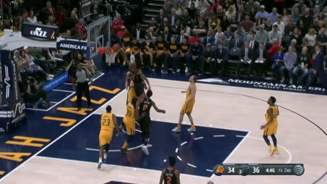 Berita video game recap NBA 2017-2018 antara Utah Jazz melawan Phoenix Suns dengan skor 107-97.