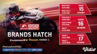 Jadwal dan Live Streaming British Superbike 2021 di Vidio Akhir Pekan Ini. (Sumber : dok. vidio.com)