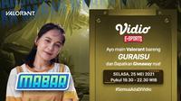 Live Streaming MABAR Valorant Bareng Guraisu di Vidio Malam Ini. (Sumber : dok. vidio.com)
