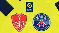 Ligue 1 - Brest Vs PSG (Bola.com/Adreanus Titus)
