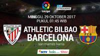 La Liga 2017 Athletic Bilbao Vs Barcelona (Bola.com/Adreanus Titus)