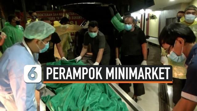 Polisi menembak mati 2 perampok minimarket dalam penggerebekan di lokasi persembunyian mereka. 1 perampok melarikan diri dan 2 lainnya luka dan dibawa ke Mapolres Jakarta Barat.