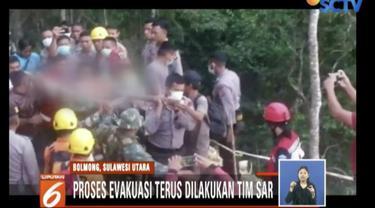 Tim SAR siagakan 20 ambulans untuk membawa korban penambang emas ilegal yang jadi korban longsor.