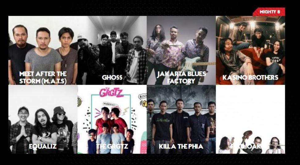 Delapan finalis Supermusic ID Rockin Battle