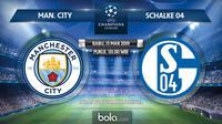 Liga Champions: Manchester City vs Schalke 04. (Bola.com/Dody Iryawan)