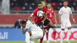 Wakil Jerman itu mengalahkan Al Ahly dengan skor 2-0 dalam partai semifinal Piala Dunia Antarklub 2020 yang digelar di Al Rayyan Stadium, Qatar, Selasa (9/2/2021). (AP Photo/Hussein Sayed)