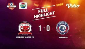 Laga lanjutan Shopee Liga 1, Madura United FC VS Arema FC berakhir  1-0 #shopeeliga1 #maduraunited #arema