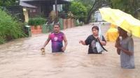 Banjir di Manado. Mengakibatkan korban meninggal dan ratusan orang mengungsi. (Foto: Dokumentasi BNPB).