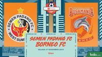 Shopee Liga 1 - Semen Padang FC Vs Borneo FC (Bola.com/Adreanus Titus)