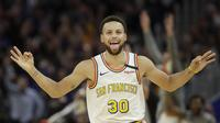 Pemain NBA Stephen Curry (AP)