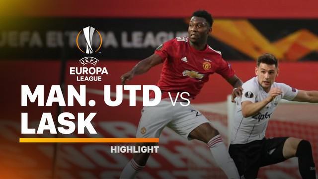 Berita video highlighta leg II babak 16 besar Liga Europa 2019-2020 antara Manchester United melawan LASK yang berakhir dengan skor 2-1, Kamis (6/8/2020) dini hari WIB.