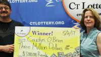 Carolyn O'Brien menang lotere 4 miliar rupiah dan mengaku pernah mendapat ramalan kemenangan dari seorang cenayang. (Sumber CTLottery.org)