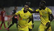 Renan Silva layak didaulat sebagai pemain terbaik dalam laga Bhayangkara FC melawan Persija Jakarta setelah mencetak satu gol dan satu assist. (Bola.com/Yoppy Renato)