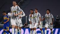 Juventus meraih kemenangan 3-1 atas Parma pada laga pekan ke-32 Serie A di Allianz Stadium, Kamis (22/4/2021) dini hari WIB. (AFP/Marco Bertorello)