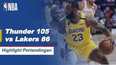 Berita Video Highlights NBA, LA Lakers Ditumbangkan Oleh Oklahoma City Thunder