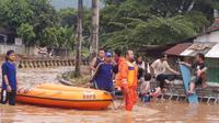 Banjir rendam Cilegon. (Istimewa)