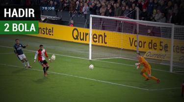 Berita video momen PSV gagal mencetak gol ke gawang Feyenoord setelah bola ke-2 tiba-tiba masuk ke dalam lapangan dalam laga Liga Belanda Eredivisie 2018-2019.