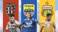 BRI Liga 1 - Stefano Lilipaly, Wander Luiz, Evan Dimas (Bola.com/Adreanus Titus)