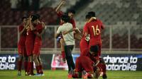 Timnas Indonesia U-16 meraih hasil imbang tanpa gol kontra China dalam penyisihan Grup G kualifikasi Piala AFC U-16 2020 di Stadion Madya, Jakarta, Minggu (22/9/2019). (Bola.com/Vitalis Yogi Trisna)
