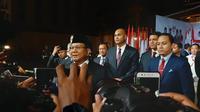 Calon Presiden nomor urut 02 Prabowo Subianto di lokasi debat pamungkas Pilpres 2019. (Liputan6.com/Yopi Makdori)