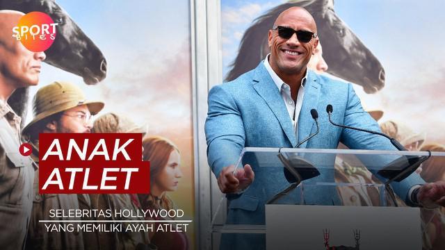 Berita video sportbites tentang para selebritas Hollywood yang mempunyai ayah seorang atlet profesional, salah satunya The Rock.