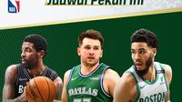 Pertandingan NBA pekan ke-18 dapat disaksikan melalui platform streaming Vidio. (Dok. Vidio)