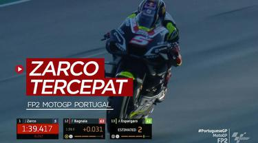 Berita video pembalap Avintia Ducati, Johann Zarco, menjadi yang tercepat di sesi latihan bebas kedua (FP2) MotoGP Portugal 2020, sementara itu sang juara dunia, Joan Mir, menempati posisi ke-6.